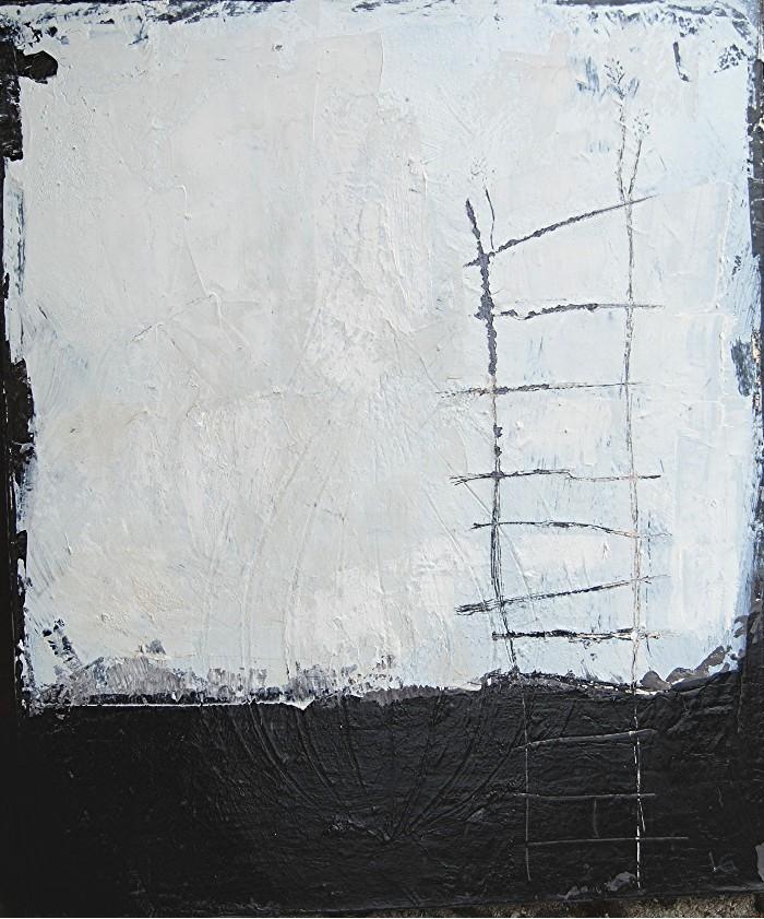 Lapo Gargani - Scala - tecnica mista su tela 40x50