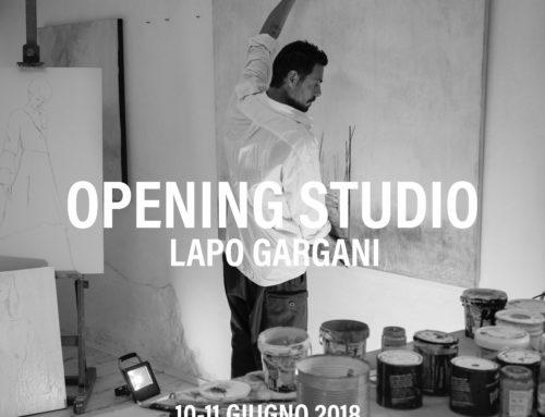 L'artista Lapo Gargani apre le porte del suo studio